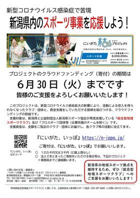 今こそ、明日こそ、スポーツ‼【スポーツ応援!にいがた結(むすぶ)プロジェクト】