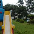 【ロボット公園】の「藤とさつき」を剪定しました‼