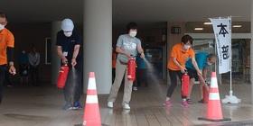 妙高市総合体育館&水夢ランドあらい合同の【消防訓練】を行いました‼